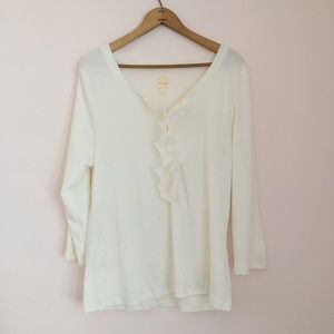 Ivory Ruffled Long Sleeve